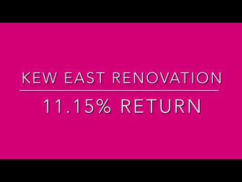 Renovation - BEFORE & AFTER - Kew East - 11.5% Return on Investment
