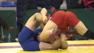 Hot 74kg Chinese Wrestling Match — Red bulge Vs. Blue bulge