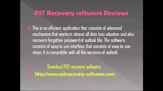 PST Recovery software Reviews