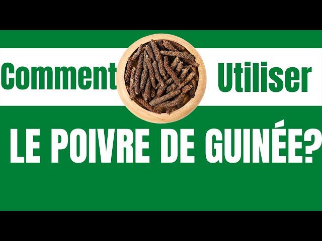 Comment utiliser le poivre de guinée(diar) #minutesanté#poivredeguinée#sélim#poivreduSénégal