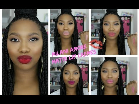*NEW* Milani Amore Matte Lip Cremes | Swatches