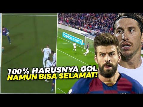 UNTUNG ADA MEREKA 🔥 Lihat Aksi Heroik Ramos U0026 Pique, Saat Gagalkan Bola Yg 100% Harusnya Jadi Gol