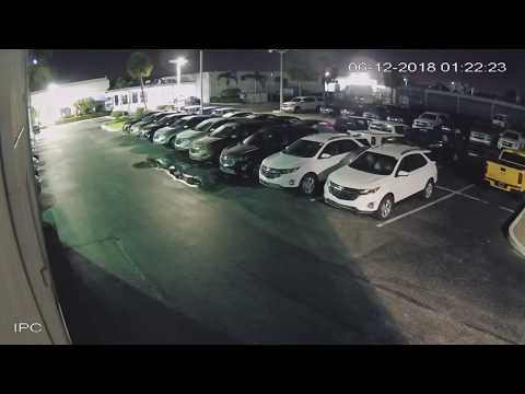 Night Hawk Monitoring Car Dealership Almost Got Away 6/12/18