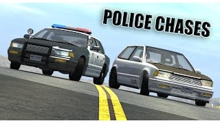 Police Chases & Fails Compialtion - BeamNG DRIVE - HD