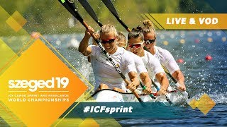 2019 ICF Canoe Sprint & Paracanoe World Championships Szeged Hungary / D4: Finals