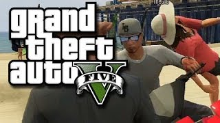GTA 5 Online Multiplayer Funny Moments!  (Beach Bum DLC, Enderman Troll, and More!)