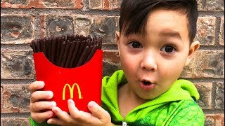 Magic McDonald's Happy Meal! Turns into chocolate iPhone and French Fries Compilation