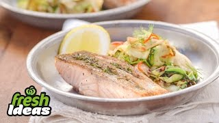 Bbq Salmon Recipe With Charred Zucchini And Fennel