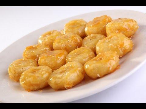 Как жарить бананы на сковороде видео