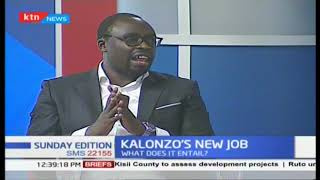 What does Kalonzo Musyoka's new job entail?