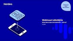 Webinaari säästäjille: Miten talous toipuu koronakriisistä – entä me? | Nordea Pankki 7.5.2020
