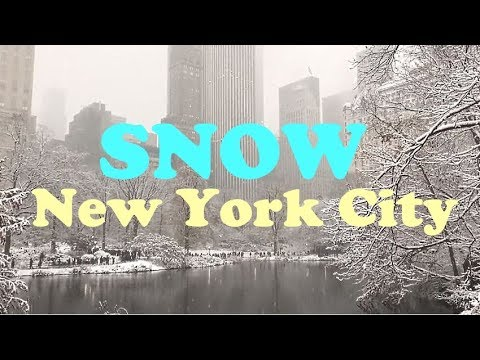 Snow in NYC: Central Park (December 2017)