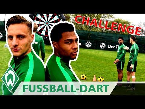 Fußball Dart CHALLENGE: Serge Gnabry vs. Robert Bauer | SV Werder Bremen