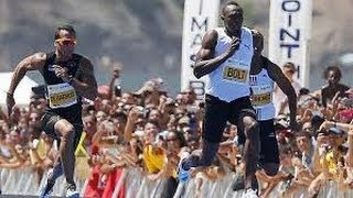 Usain Bolt breaks 150m World Record