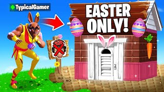 I Went UNDERCOVER in a EASTER ONLY Tournament! (Fortnite)