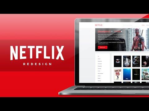 UI 001  Netflix Website Redesign