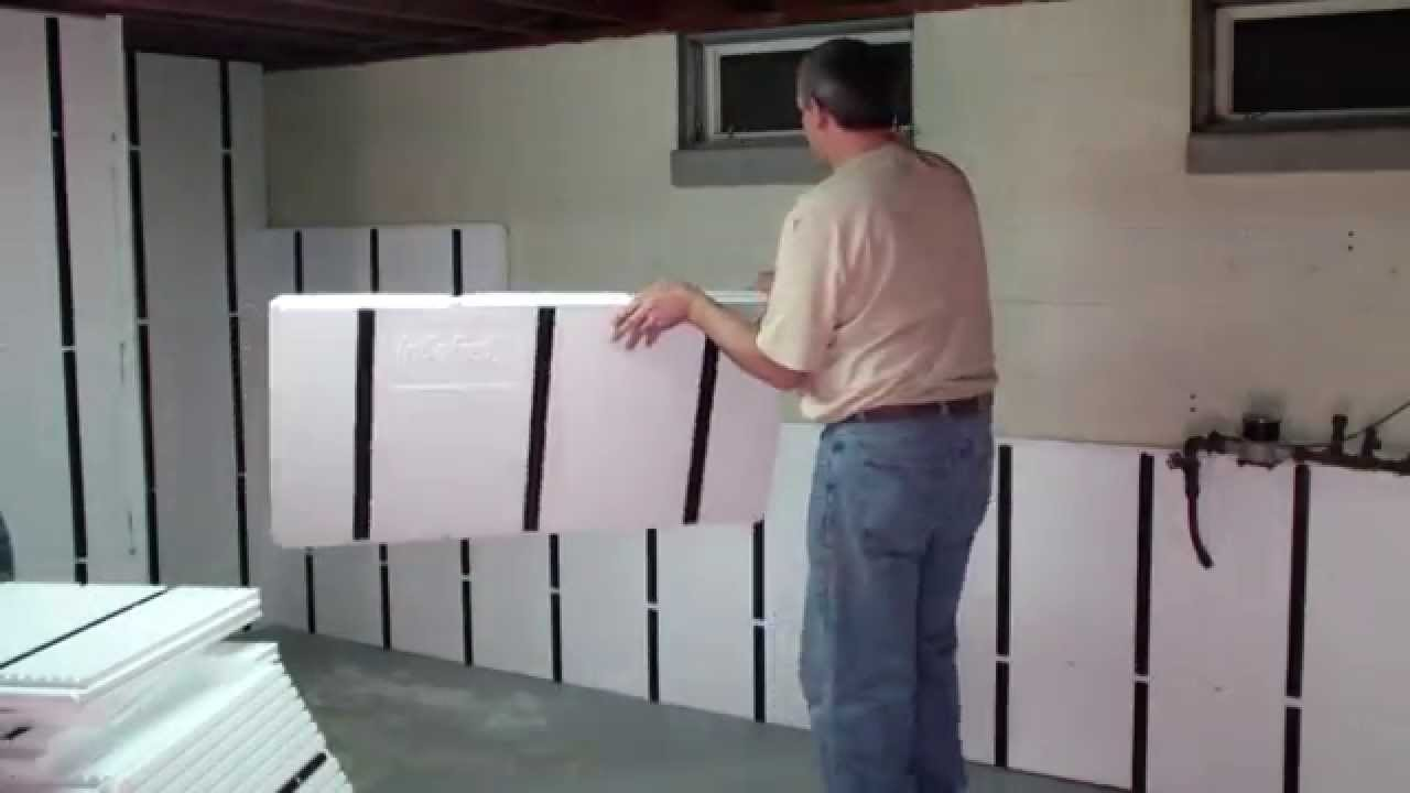Installing Insofast Panels On A Basement Wall Youtube