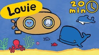 Louie draw me marine animals | Learn to draw, cartoon for children