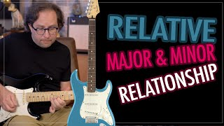 Relative Major & Minor Chord and Scale Relationship - Learn a Rock, Blues Lead - Guitar Lesson EP417