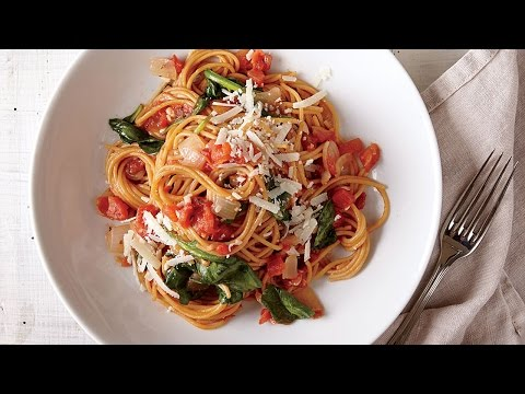How To Make One-Pot Pasta With Spinach And Tomatoes | Cooking Light