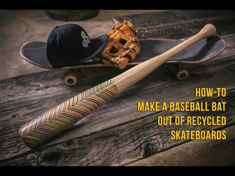 How-to make a Baseball Bat out of Recycled Skateboards (Herringbone Pattern) - Tutorial