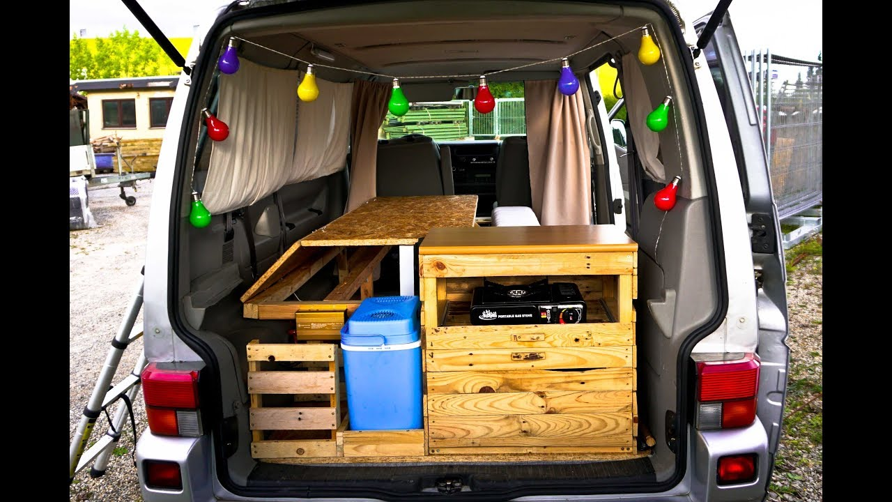 vw t4 campervan ausbau roomtour youtube. Black Bedroom Furniture Sets. Home Design Ideas