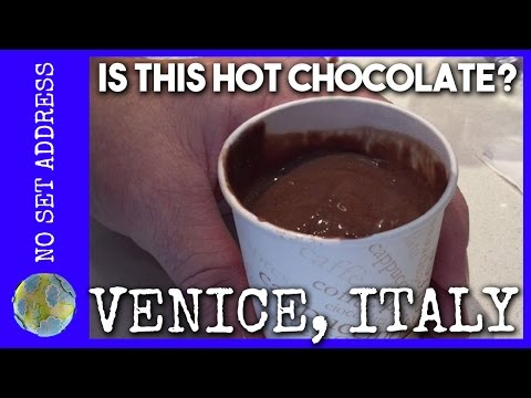Drinking Hot Chocolate in Venice, Italy