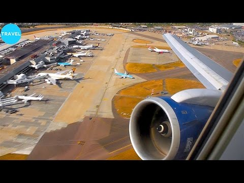 EPIC ENGINE ROAR! British Airways 767-300 Takeoff from London Heathrow!