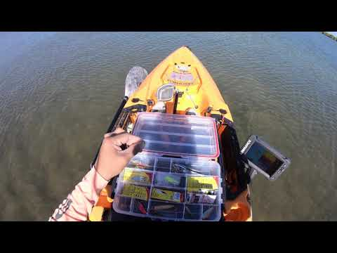 Kayak Fishing Mustang Island During Crazy Winds, Corpus Christi TX