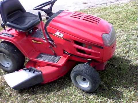 My Quot New To Me Quot Ace Mtd 42 Quot Lawn Tractor Youtube