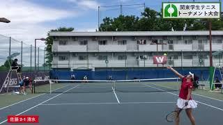 2019年度 関東学生テニストーナメント大会 女子シングルス決勝 佐藤南帆(慶大) 63 61 清水映里(早大)
