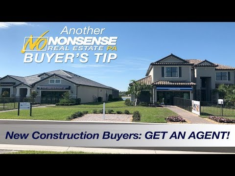 New Construction Buying Tip:Get AN AGENT!