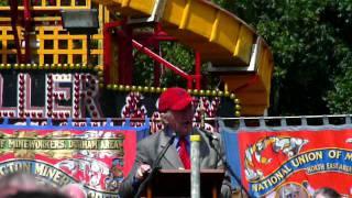 Dennis Skinner at 2011 Miners Gala