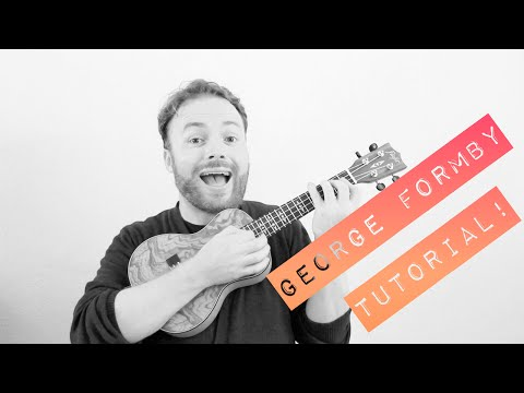 GEORGE FORMBY - When I'm Cleaning Windows - EASY UKULELE TUTORIAL!