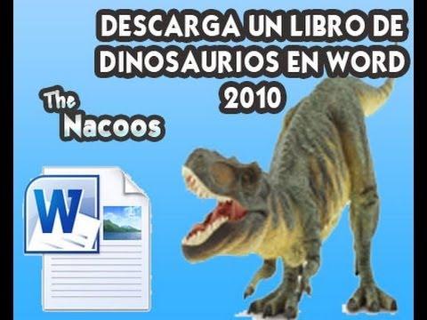 Descargar Libro de Dinosaurios en Word 2010 para que pinten los ...