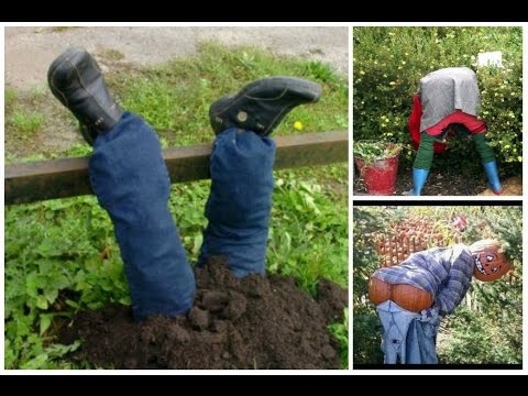 видео: Самые креативные идеи чучела в ваш огород! Пугало огородное своими руками.
