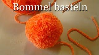 Bommel selber machen - Pompons einfach basteln - Basteln mit Wolle im Winter
