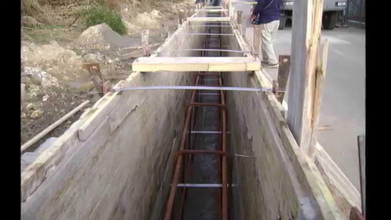 edil costruzioni 2000  messa in opera muro in cls  YouTube