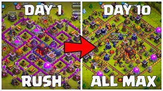 How To Max Your Rush Base In Just 10 Days In Clash Of Clans