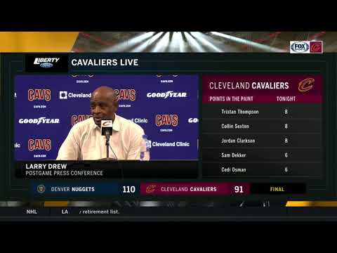 Larry Drew's message to team: 'You have to stay with it' | CAVS-NUGGETS POSTGAME