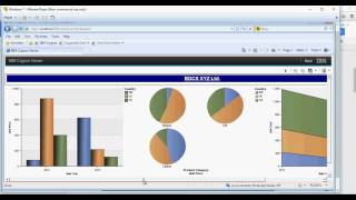 cognos 10 2 tutorial creating a dashboard set 14 of 50 live project cfo 1