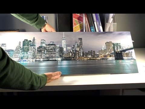 Adoramapix Metal Print Glossy White Review, NYC Panorama 12X36 on aluminium plate, Wall Float