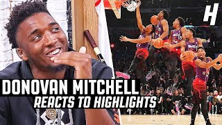 Donovan Mitchell Reacts to Donovan Mitchell Highlights Video