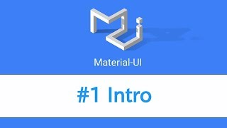 Learn React & Material UI - #1 Intro