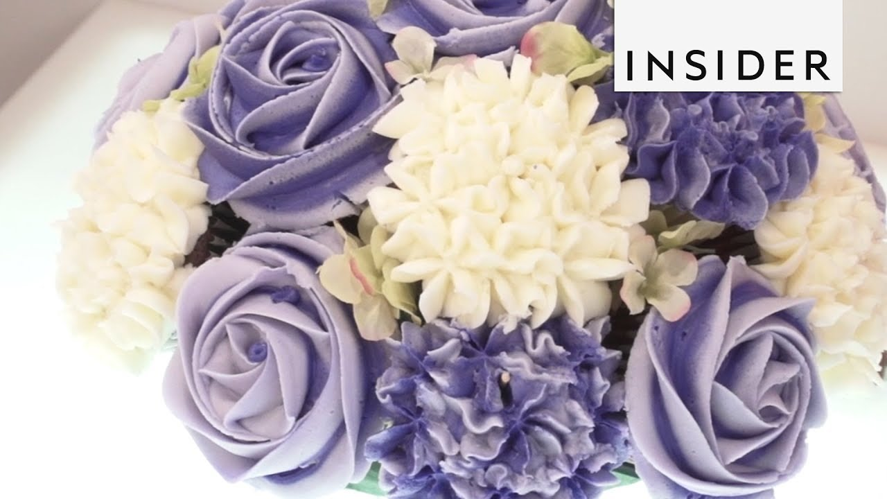 Cupcake bouquet youtube cupcake bouquet izmirmasajfo