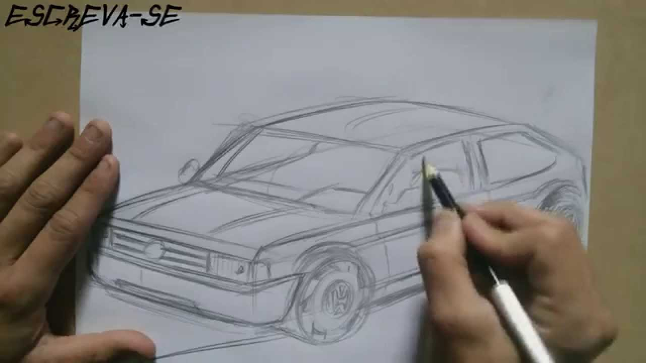 Como Desenhar Um Carro Gol Quadrado Para Iniciantes How To Draw