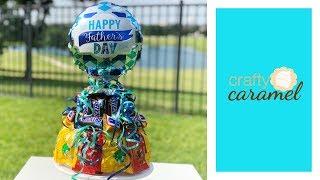 ARREGLO DE CHOCOLATES EN FORMA DE PASTEL / Dia del padre   Candy Arrangement