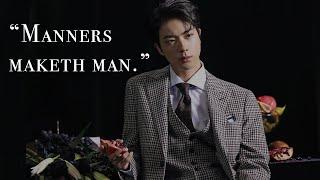 "JINTLEMAN   BTS Jin Manners ""예절돌"