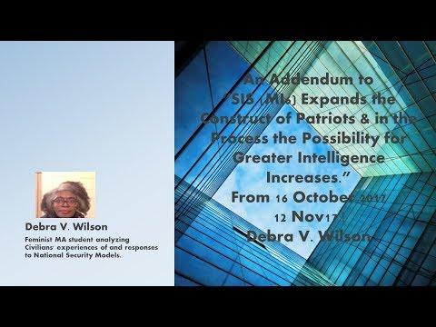 MI6 and Inclusive Recruitment Outreach an Update Debra V. Wilson