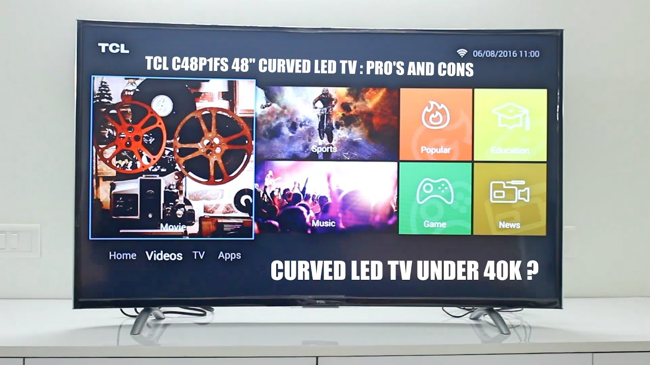 48 Curved Led Tv Under 40k Tcl C48p1fs 48 Curved Led Tv